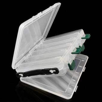 แบบพกพาคู่ด้านเหยื่อพลาสติกกล่อง 10 ช่องความจุสูงตกปลากล่องใส่เหยื่อตกปลากล่องใส่เหยื่อตกปลา - INTL