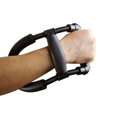 ราคา Power Wrist Device Forearm Force Flexor Strength Hand Gripper Training Tool Exerciser Steel Spring Adjustable เครื่องบริหารข้อมือ สีดำ ใหม่ ถูก