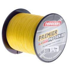 ทบทวน ที่สุด Pro 300M Super Strong 4 Stands Pe Braided Fishing Line Rope Cord New 1 Yellow) Intl
