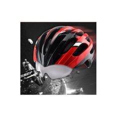 ขาย Pro Team Wt 049 หมวกจักรยานอินโมล์ด พร้อมแว่นในตัว และมีตาข่ายกันแมลง สีแดง Unbranded Generic ใน กรุงเทพมหานคร