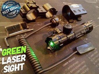 เลเซอร์ติดปืน (ปรับนอก)สีเขียว คุณภาพสูง