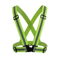 ขาย เสื้อกั๊กสะท้อนแสงเข็มขัดนิรภัย สีเขียว Sport