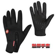 ฤดูใบไม้ร่วงและฤดูหนาวขี่จักรยานอบอุ่นเต็มนิ้วสัมผัสถุงมือขนแกะถุงมือ ฮ่องกง