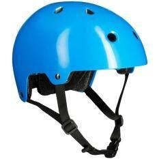 หมวกกันน็อคสำหรับ สเก็ตบอร์ด สกู๊ตเตอร์ และจักรยาน (สีฟ้า).