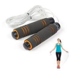เชือกกระโดด ที่กระโดดเชือก ด้ามจับบุนุ่มกระชับมือ สายเสริมความแข็งแรง สำหรับการออกกำลังกาย มวย เผาผลาญพลังงาน.
