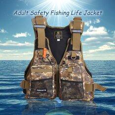 ราคา Professional Flotation *d*lt Safety Life Jacket Survival Vest Swimming Kayaking Boating Drifting With Emergency Whistle Intl ฮ่องกง