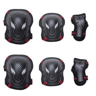 Protective Knee Elbow Wrist Pads Guard Tactical Paintball Kneepad Protector Roller Skate For Children Skateboard Gear Pack M - intl
