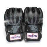 ความคิดเห็น Pu Leather Training Grappling Ufc Boxing Fight Punch Mitts Mma Sanda Gloves Black