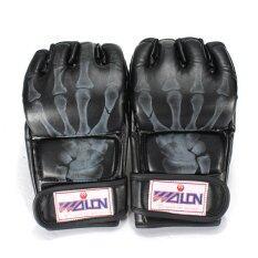 ราคา Pu Leather Training Grappling Ufc Boxing Fight Punch Mitts Mma Sanda Gloves Black ถูก