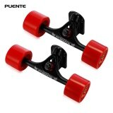 ขาย Puente 2Pcs Set Skateboard Truck With Skate Wheel Riser Abec 9 Bearing Bolt Nut Intl ใน จีน