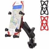 ราคา Q Shop Universal Bike และรถจักรยานยนต์ Mount Holder กับ Tough Claw Mount Handlebar Rail Mount และ X Grip Phone Holder โทรศัพท์เหมาะกับสมาร์ทโฟนและ Gps สีดำ ใหม่