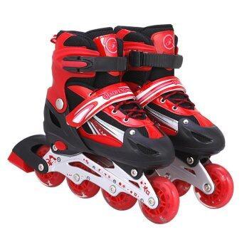 รองเท้าสเก็ต โรลเลอร์เบลด QI-SPORT ไซส์ 34-37 (สีแดง)