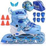ขาย รองเท้าสเก็ต พร้อมอุปกรณ์ รุ่น G Miqi ไซด์ 34 37M สีน้ำเงิน Unbranded Generic เป็นต้นฉบับ