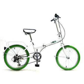 RAYCHELL จักรยานพับได้ นำเข้าจากญี่ปุ่น  รุ่น MF 206 RR (สีขาวยางเขียว)