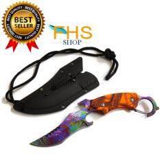 ราคา Razor Tactical Survival Knife Series Orange มีดคารัมบิต ซองAbs
