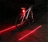ขาย สีแดง 5 Led 2 สัญญาณเตือนภัยรถจักรยานการขี่จักรยานเลเซอร์หลังไฟท้ายจักรยาน ในประเทศ จีน ถูก
