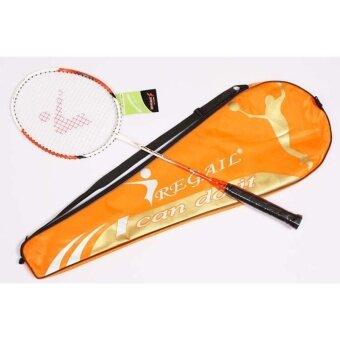 REGAIL ไม้แบตมินตัน badminton พร้อมถุง (สีส้ม)