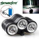 ส่วนลด Rehargeable 12000Lm Bike 3 X Cree Xm L T6 Led Bicycle Lamp Outdoor Headlight Kit Intl