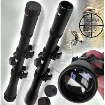 เลนส์ลำกล้องติดปืนไรเฟิ่ล RIFLE SCOPE ขนาด 4 x 20 mm กำลังขยาย 4 เท่าระยะหวังผล 100 หลา