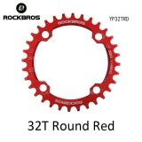 ราคา ราคาถูกที่สุด Rockbros 32T 34T 36T 38T Crankset Mtb Bike Bicycle Parts Oval Round Bicycle Bike Crank Chainwheel 104Bcd Wide Narrow Chainring 32T Round Red Intl