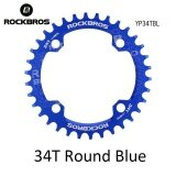 Rockbros 32T 34T 36T 38T Crankset Mtb Bike Bicycle Parts Oval Round Bicycle Bike Crank Chainwheel 104Bcd Wide Narrow Chainring 34T Round Blue Intl เป็นต้นฉบับ