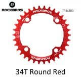 ขาย Rockbros 32T 34T 36T 38T Crankset Mtb Bike Bicycle Parts Oval Round Bicycle Bike Crank Chainwheel 104Bcd Wide Narrow Chainring 34T Round Red Intl