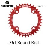 ราคา Rockbros 32T 34T 36T 38T Crankset Mtb Bike Bicycle Parts Oval Round Bicycle Bike Crank Chainwheel 104Bcd Wide Narrow Chainring 36T Round Red Intl ใหม่ ถูก