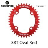 ซื้อ Rockbros 32T 34T 36T 38T Crankset Mtb Bike Bicycle Parts Oval Round Bicycle Bike Crank Chainwheel 104Bcd Wide Narrow Chainring 38T Oval Red Intl