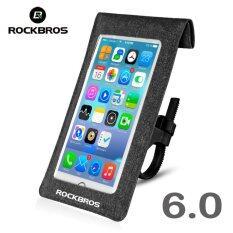 ซื้อ Rockbros 6 Inches Waterproof Phone Case Phone Holder Touch Screen 360° Adjustable Phone Bag Front Handlebar Cycling Bag 2 Colors Intl ออนไลน์ จีน