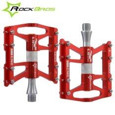 ขาย Rockbros Bike Pedals Cycling Sealed 4 Bearing Pedals Flat Platform One Pair Seven Colours Red Intl ถูก จีน