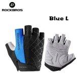 ราคา Rockbros Cycling Bike Half Short Finger Gloves Shockproof Breathable Mtb Road Bicycle Gloves Men Women Sports Cycling Equipment Intl ใหม่ล่าสุด
