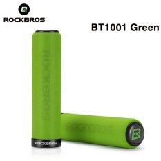 ราคา Rockbros Cycling Grips Mountain Road Bicycle Handle Grip Bike Lock Silicone Sponge Handlebar Soft Ultraight Grips Anti Skid Shock Absorbing Two Styles Bt1001 Green Intl ใหม่