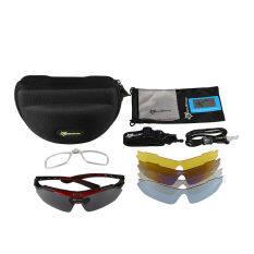 ขาย Rockbros Cycling Outdoor Polarized Glasses Sunglasses Goggles 5 Lenses Black Red Intl Export Intl Rockbros ถูก