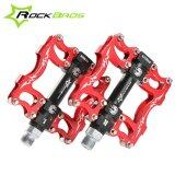 ซื้อ Rockbros Hot Sale Mtb Ultralight Bike Bicycle Pedals Mountain Road Bike Pedal Cycling Aluminum Alloy 3 Styles Hollow Pedals B Red Intl ใน จีน