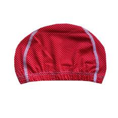 RUJI Swimwear หมวกว่ายน้ำ หมวกเล่นน้ำ รุ่น SC0061 ลายจุดขาวเล็ก (สีแดง)