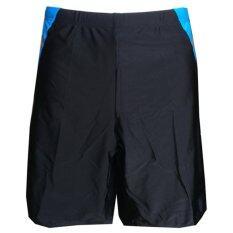 Ruji กางเกงว่ายน้ำ กางเกงว่ายน้ำชาย กางเกงว่ายน้ำขาสั้น สามเหลี่ยมข้างสีฟ้า Size Xl By Ruji.