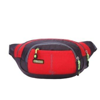 Running Bum Bag Travel Handy Hiking Sport Fanny Pack Waist Belt Zip Pouch Red - intl
