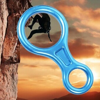 Safety 35KN Aluminum Figure 8 Descender for Rock Climbing Rope Rescue Rappelling - intl