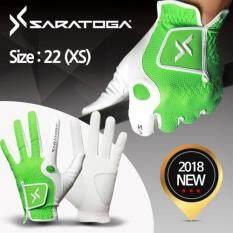 ราคา Saratoga ถุงมือกอล์ฟ สีเขียว 1ชิ้น Saratoga เป็นต้นฉบับ