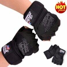 โปรโมชั่น Schiek ถุงมือยกน้ำหนัก ถุงมือฟิตเนส Fitness Glove Black ถูก