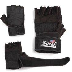 Schiek ถุงมือยกน้ำหนัก ถุงมือฟิตเนส Fitness Glove Black ถูก