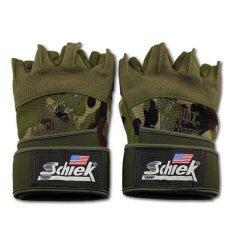 ขาย Schiek ถุงมือฟิตเนส Fitness Glove Free Size สีเขียว ออนไลน์ ใน ไทย