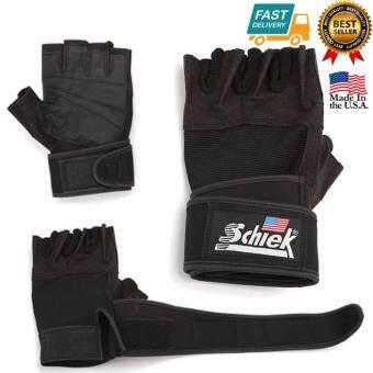 Schiek LIFTING GLOVE ถุงมือยกน้ำหนัก ถุงมือฟิตเนส Fitness Glove Size M (Black)