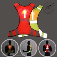 ซื้อ Seeyu เสื้อกั๊กสะท้อนแสง Rst 09 แบบมีไฟ Led สีเขียว สำหรับวิ่ง หรือปั่นจักรยาน ไทย