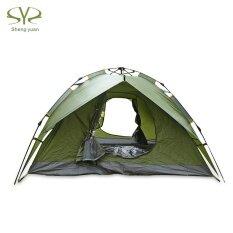 ซื้อ Shengyuan Water Resistant Automatic Pop Up 3 4 Person Sunscreen Camping Tent Intl จีน