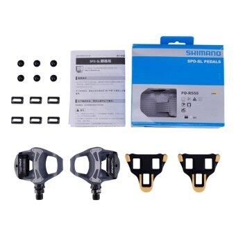 SHIMANO PD-R550 SPD-SL Pedal Road MTB Bike Pedals Non-slip Locking Pedals(Black) - intl