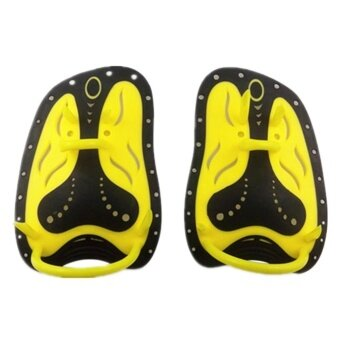 Silica Gel Hand Paddles with Adjustable Strap Improve Swimming Speed for Swim Training Snorkeling - intl
