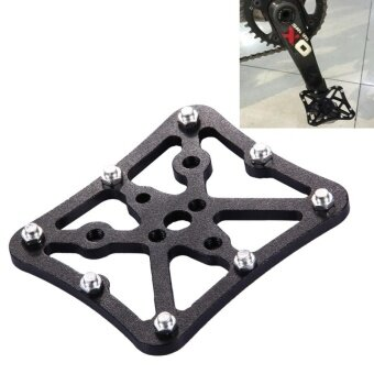 Single Road Bike Universal Clipless To Pedals Platform Adapter For Bike MTB Size: Small(Black) - intl