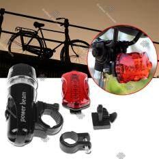ขาย Sinlin ชุดไฟจักรยาน หน้า หลัง พร้อมอุปกรณ์ Bike Light Head Tail Led Set รุ่น Bls205 Df Black ถูก