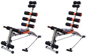 SIX PACK CARE BGเครื่องออกกำลังกาย (สีดำ/ส้ม)พร้อมสายแรงต้าน (แพคคู่)